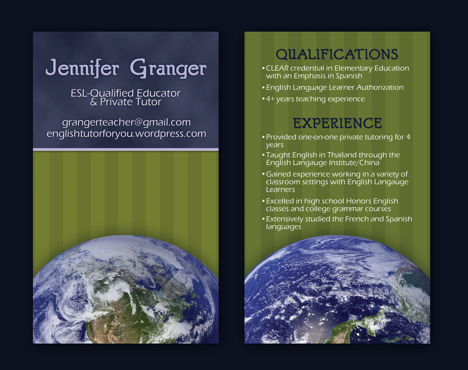 Jen granger business cards nashville graphic designer franklin published june 18 2010 categories business card colourmoves